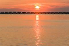 18-5476 (George Hamlin) Tags: ohio bay view railroad freight train norfolk southern westbound ns manifest lake erie sandusky water sunrise reflection silhouette colorful sky clouds bridge photodecor george hamlin photography