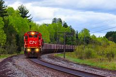 Hearts of Iron (BravoDelta1999) Tags: cn railway canadiannational duluthmissabeandironrange dmir railroad ironrangesubdivision ironjunction minnesota ge c408 2014 taconite ore train
