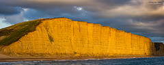 West Bay Cliff sunset (jerry_lake) Tags: 6thoct2016 d3s dorset nikon70200mmf28 westbaytrip define2