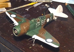 "1:72 Australian Department of Aircraft Production (DAP) ""Bunyip"" Mk. IIB, aircraft ""BF-K/A78-158"" of the Royal Australian Air Force (RAAF) No. 5 Squadron; Piva Airfield/Torokina on Bougainville (New Guinea), November 1944 (Whif/modified Eduard La-7 kit) - (dizzyfugu) Tags: 172 lavochkin la7 la5 conversion whif whatif model kit modellbau dizzyfugu raaf new guinea 1944 bunyip boomerang cac australian department aircraft production 5 squadron piva airfield torokina bougainville foliage green dark earth brown sky blue bf"