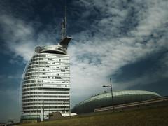 Bremerhaven (Maximilian Busl) Tags: architecture hasselblad bremerhaven germany cfv50c 500cm sky blue clouds