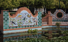 Andalusian Tile Art (AnyMotion) Tags: tiles fliesen waterlilybasin seerosenbecken park 2019 málaga jardinesdepedroluisalonso andalucia spain anymotion reisen travel 6d canoneos6d