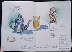 Rouen-Normandie-France (Nathalie Lefebvre 76) Tags: aquarelle rouen rouentourisme seinemaritime normandie normandietourisme croquis carnet carnetdevoyage