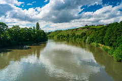 from skp-mm (skp-mm) Tags: 24mm badcannstatt fluss green himmel landscape landschaft nature neckar polfilter sommer water wolken grün ndgradientfilter stuttgart badenwürttemberg deutschland sky blau