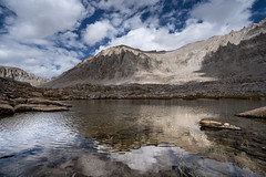 Simply happy about that (ScorpioOnSUP) Tags: a7iii bealpha easternsierra hitchcocklakes jmt jmt2018 johnmuirtrail mthale mtwhitney sequoianationalpark sierranevada sonyalpha abovetimberline adventure backcountry clouds lake landscape landscapephotography light mountains nature outdoors reflection shadows thruhike wilderness