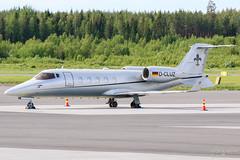 D-CLUZ Bombardier Learjet 60XR, EFTP, Finland (Sebastian Viinikainen.) Tags: dcluz bombardier learjet60 learjet businessjet eftp finland
