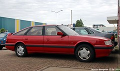 Rover Vitesse 1989 (XBXG) Tags: auto old red holland classic netherlands car rouge automobile nederland rover voiture british 1989 rood paysbas v6 vitesse wormer youngtimer rover800 stofkuipstraat xb07xb rovervitesse1989 uk outdoor vehicle ancienne brits anglaise