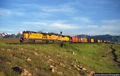 The Salt Lake Route (jamesbelmont) Tags: unionpacific yrhk oquirrhmountains erda lakepoint utah ge c408 emd sd50 manifest freight train railroad railway locomotive