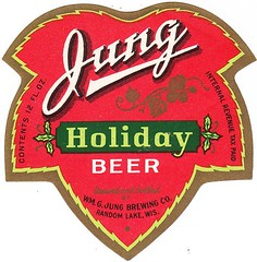 USA - WM. G. Jung Brewing Co. (Random Lake) (cigpack.at) Tags: wmgjungbrewingco jung randomlake usa holidaybeer bier beer brauerei brewery label etikett bierflasche bieretikett flaschenetikett