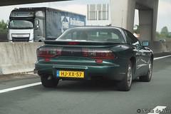 1994 Pontiac Firebird (NielsdeWit) Tags: nielsdewit car vehicle a12 highway motorway snelweg driving hjxx57 pontiac firebird 1994 green