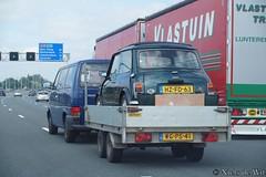 1994 Rover Mini 1.3i (NielsdeWit) Tags: nielsdewit car vehicle a12 highway motorway snelweg trailer hzfd63 rover mini 13 classic 13i