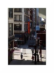 on the wabash (anthonyaicardi) Tags: chicago street people dog city xpro1 fuji 55mm wabash man supertakumar