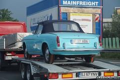 1959-1963 Fiat 1200 Pininfarina Cabriolet (NielsdeWit) Tags: nielsdewit car vehicle a12 highway motorway snelweg trailer fiat 1200 pininfarina pinin farina spider spyder cabrio cabriolet convertible romania if 27 aba if27aba