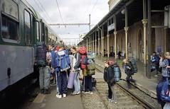 2000-06-27 We are going on a Trip... (beranekp) Tags: czech teplice teplitz people gymnasium eisenbahn railway železnice bahnhof station nádraží