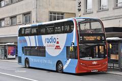 Go Ahead Plymouth Citybus 501, WF63LZA. (EYBusman) Tags: go ahead plymouth citybus devon bus coach royal parade city centre alexander dennis enviro 400 overall advert radio wf63lza eybusman