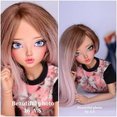 Beautiful photo by owner ❤️ (♥..Nomyens..♥) Tags: bjd balljointdoll toy doll custom faceup paint painting painted repaint handmade nomyens nomyenscom dollfairyland minifee chloe msd
