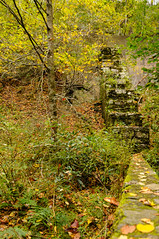 Glen Burney Falls Trail-The Ruins (Z-Imagery) Tags: america blowingrock cultural documentary editorial glenburneyfallstrail landscape moss nc natureandenvironment northamerica northcarolina oldtreatmentplant plantsandflowers ruins south southatlantic southernstates tarheelstate us usa unitedstates wataugacounty autumn autumnal colorful concrete day daylight daytime deciduous fall fallcolors flora goldenyellow openair outdoor verdant wall nikon d300 tokina atx 116 pro dxii 1116mm f28