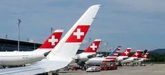 On the ground (oobwoodman) Tags: switzerland suisse schweiz swiss zrh kloten swissinternationalairlines swissflag plane airplane aeroplane avion flugzeug winglet tail airport aéroport flughafen