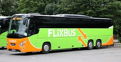 Flixbus BeNeLux, VDL Futura FHD, 1-SEB-983 awaits departure from Zürich HB (Car Park Sihlquai) with an Eindhoven service. (Gobbiner) Tags: