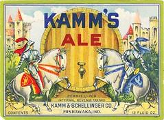 USA - Kamm & Schellinger Co. (Milshawaka) (cigpack.at) Tags: usa kammschellingerco mishawaka kammsale bier beer brauerei brewery label etikett bierflasche bieretikett flaschenetikett
