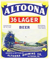 USA - Altoona Brewing Co. (Altoona) (cigpack.at) Tags: altoonabrewingco altoona usa altoona36lager bier beer brauerei brewery label etikett bierflasche bieretikett flaschenetikett