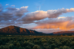 the day is almost done. (M///S///H) Tags: rx1 alpenglow clouds landscape lastlight newmexico newmexicotrue sagebrush sony sonyrxq sunset taos