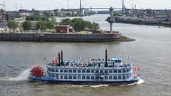 Old style ship in Hamburg (BarLaci73) Tags: travel ship river hamburg cityscape