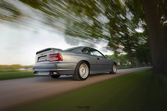 BMW 850 CSI (Ogenblik fotografie) Tags: bmw bmw850csi rigshot rig shot driving car cars speed canon canon6d 6d street tree fast classic youngtimer oldtimer