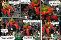 The Monday Deathmatch Tournament - Page 39 (Aliencat!) Tags: lego moc comic atlantis friends deathmatch apoc apocalypse post apocalyptic crab bunny rabbit