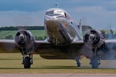 Miss Montana (nickym6274) Tags: imperialwarmuseumduxford iwm duxford cambridgeshire uk 75thanniversary daksoverduxford douglasdakota dakota c47 dc3 normandy aeroplane aircraft dday75 missmontana n24320 johnsonflyingserviceinc