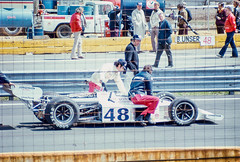 This Olsonite Eagle would take Bobby Unser to victory on this date (brooklandsspeedway) Tags: indycar trenton fairgrounds newjersey usac