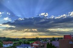 ... am späten Nachmittag (markus-schafranek) Tags: wolken abenddämmerung fz1000 lumix himmel sundown sky sonnenuntergang hdr cloud bavaria sunset