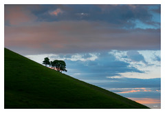 163/365 - Ciel du soir (lodebelvo) Tags: nuages ciel arbres 365