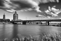 Roermond (metsemakers) Tags: roermond nisi sony a7ii tamron limburg thenetherlands blackwhite monochroom city waterkant filter nd clouds wolken water
