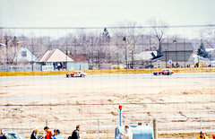The modifieds go past the cheap seats (brooklandsspeedway) Tags: indycar trenton fairgrounds newjersey usac