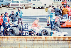 McLaren and Curtis cars on the grid (brooklandsspeedway) Tags: indycar trenton fairgrounds newjersey usac