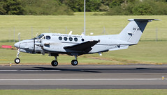 10-0260 (PrestwickAirportPhotography) Tags: egpk prestwick airport us army united states beechcraft c12 100260