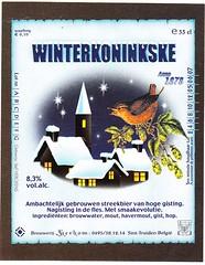 Belgium - Brouwerij Kerkom (Sint-Truden) (cigpack.at) Tags: belgien belgium brouwerijkerkom sinttruden winterkoninkske bier beer brauerei brewery label etikett bierflasche bieretikett flaschenetikett