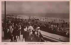 Bridlington, sea front and beach (Keith Pharo) Tags: uk england people holiday history beach coast seaside social cliffs nostalgia sea front bridlington