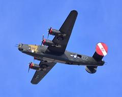 B-24J at Moffett Field 05-22-2019 (2) (Ian E. Abbott) Tags: consolidated b24j b24h b24 liberator usaaf 4444052 raf liberatorgrvi kh191 iaf t18 n224j worldwarii wwii collingsfoundation witchcraft 4252534 warbird moffettfederalairfield moffettfield knuq nuq