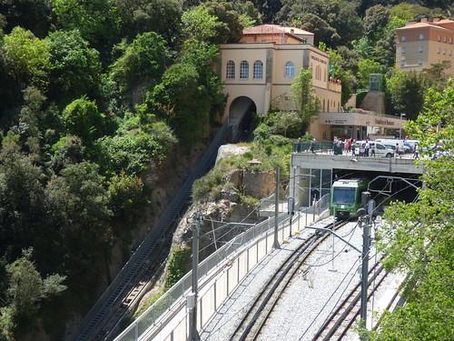 Funicular de la Santa Cova and Montserrat Rack Railway