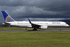 N41140 United Airlines Boeing 757-224(WL) at Glasgow International Airport on 9 June 2019 (Zone 49 Photography) Tags: aircraft airliner aeroplane june 2019 glasgow scotland egpf gla abbotsinch airport ua ual united airlines boeing 757 752 200 224 wl n41140
