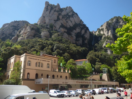 Funicular Railways at Montserrat - Funicular de la Santa Cova