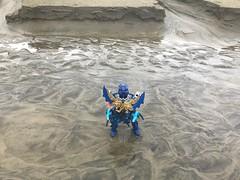 Empress Cleavers (Armored Toa) Tags: toa nuva gali mega moc revamp water beach sand kanohi stars warrior atlantis queen kaukau mnog