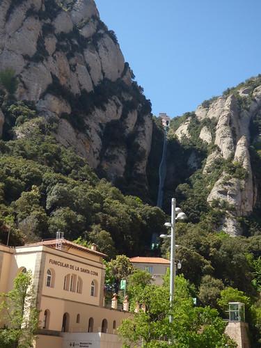 Funicular Railways at Montserrat - Funicular de la Santa Cova and Funicular de Sant Joan