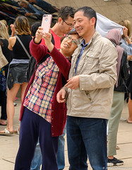 """And so begins the 2019 edition of """"selfies at the bean"""" (Jim Frazier) Tags: 2019 20190608downtownchicago 2019selfiesatthebean millenniumpark wscf art attraction bean businessdistrict candids cellphones chicago city cloudgate cloudy cook cookcounty couples downtown families fun happiness happy il illinois jimfraziercom joy june loop love meetup millennium mirrors park people peoplewatching photographers photowalk portrait portraits portraiture q3 reflections sculpture selfies selfiesatthebean smiles smiling statuary statues summer tourism touristattraction tourists urban walking"""