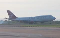 Virgin Atlantic G-VROM  Boeing 747-443 arrival at Manchester MAN England UK (japes10) Tags: virginatlantic gvrom boeing 747443 arrival manchester man england uk