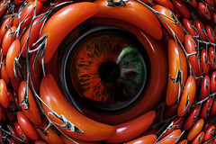 Nature Watch (Paulie-W) Tags: surreal abstract fruit eye watching freaky tomatoes