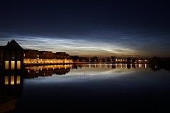 Noctilucent clouds. Amazing sky (avista) Tags: nachtwolken houten nederland thenetherlands sky utrecht rietplas sony zeiss 35mm rx1 night clouds luminescentclouds oplichtendenachtwolken noctilucentclouds