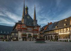 town hall (Anton Werner - Bildermix) Tags: townhall marketsquare werrnigerode anhalt germany harz sunrise